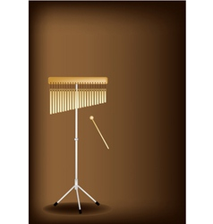 A Musical Bar Chimes on Dark Brown Background vector image