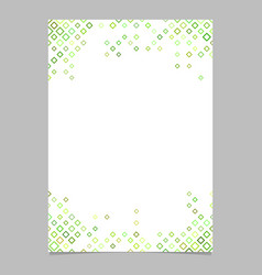 abstract brochure template from green diagonal vector image vector image