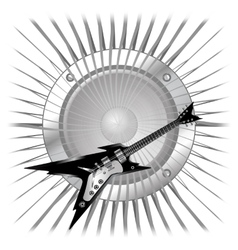 background electric guitar and speaker vector image vector image