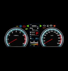 Car dash board eps 10 vector