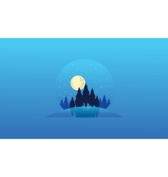Collection Christmas landscape of silhouettes vector image vector image