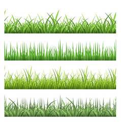 green field grass horizontal seamless vector image vector image