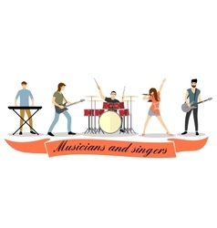 Musicians and singers set Rock band vector image vector image