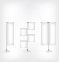 White blank banner flag vector