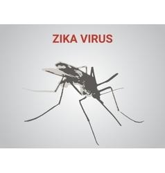 a very dangerous new tropical virus vector image