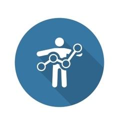 Business Progress Icon Flat Design vector image vector image