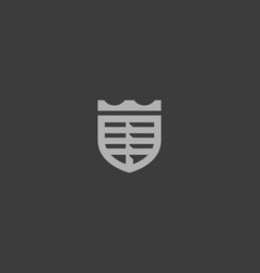 crown car logo shield logotype vector image