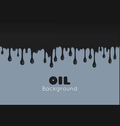 flow ink drops splash oil vector image vector image