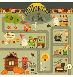 Halloween in Town vector image vector image