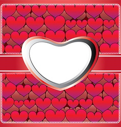 Heart lace frame vector image