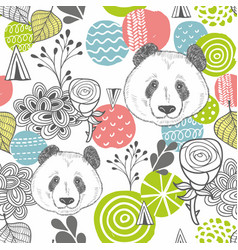 seamless pattern with abstract design elements and vector image