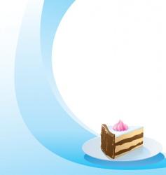 vintage style dessert menu template vector image