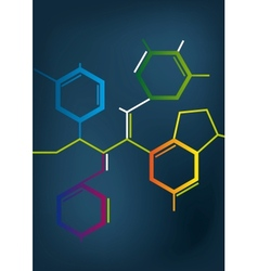 Abstract Chemical formula vector image vector image