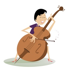 Cellist woman vector image vector image