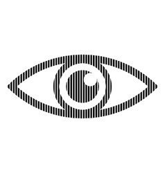 Eye sign on white vector image