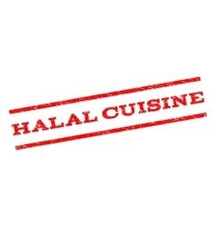 Halal Cuisine Watermark Stamp vector image