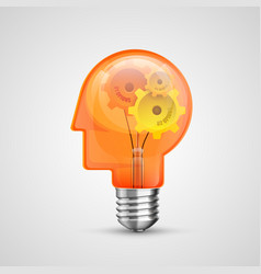 lamp head concept creative idea vector image