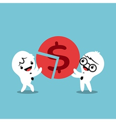 business team successful teamwork concept cartoon vector image vector image