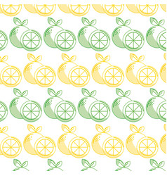 Delicious lemon healthy fruit background vector