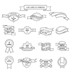 Design label set and ribbons vector