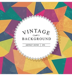 vintage lettering template with aged background vector image vector image