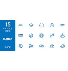15 slice icons vector