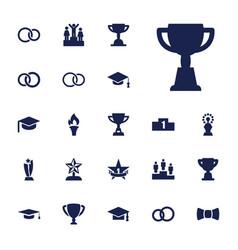 22 ceremony icons vector