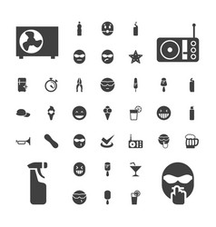 37 cool icons vector