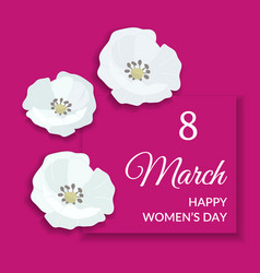 8 march happy international womens day greeting vector