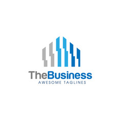 abstract real estate logo vector image