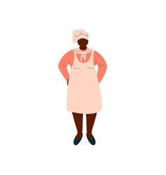 african american woman cook professional vector image