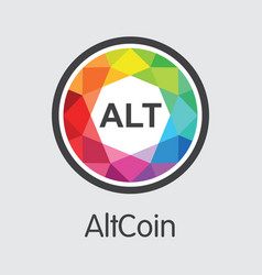 Altcoin blockchain cryptocurrency - web vector