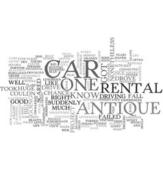 Antique car parts text word cloud concept vector
