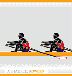 Athlete Rowers vector image