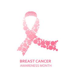 awareness pink ribbon vector image