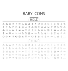 Baby flat icon set vector image