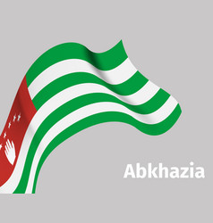 background with abkhazia wavy flag vector image