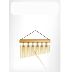 Beautiful musical bar chimes with a white banner vector