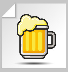 beer icons 3 vector image