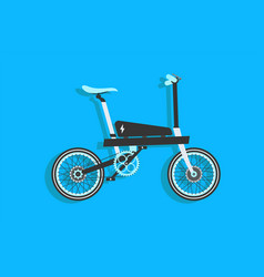 bike white blue and black electric bike bicycle vector image