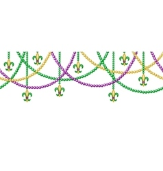 Border with beads vector