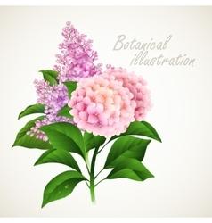 Botanical Vintage floral card vector image