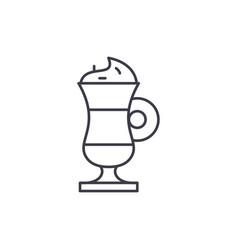 cappuccino line icon concept cappuccino vector image