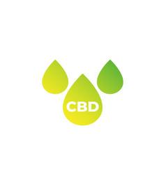 cbd oil drops icon on white vector image