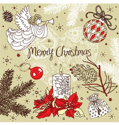 Christmas Pattern Card vector
