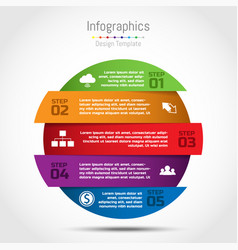 Circle infographic template for business vector