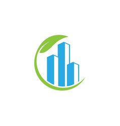 Clean of business accounting rising bar logo vector