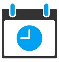 Clock Calendar Day Toolbar Icon vector image