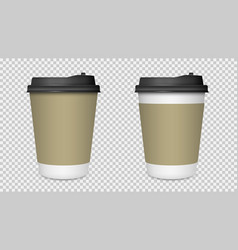 coffee cup isolated blank paper coffee cup mockup vector image