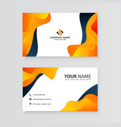 creative abstract business card template vector image